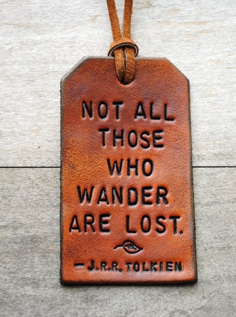 Not all those who wonder are lost